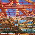 Figure 1: Safety net showing two nets joined with coupling ropes