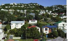 A Wellington suburb. Homeowners are likely to face requirements to strengthen masonry chimneys and effectively brace subfloors.